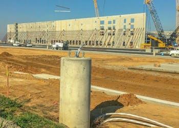 Amazon Fulfillment Center Uses Pole Base