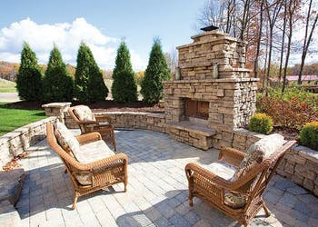 Story: Outdoor Kitchen and Fireplace