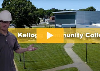 Precast Site Lighting for Community College