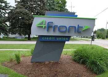 4Front Credit Union Precast Sign Foundation